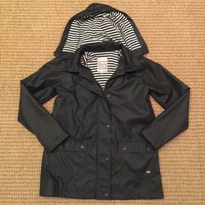 Armor Lux Navy and White Raincoat Size 38 French